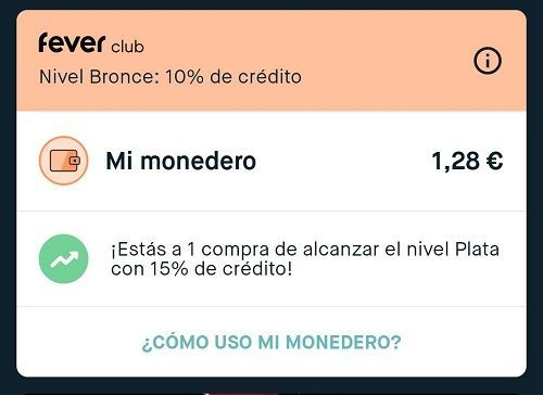 fever club monedero cashback